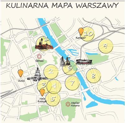 Wsrodmiesciuwarszawy Kulinarna Mapa Warszawy Srodmiescie Na Podium