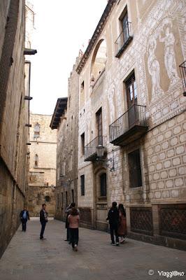 Edifici medievali nel quartiere gotico