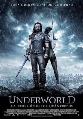 Cartel oficial español: Underworld: La rebelión de los licántropos (2009)