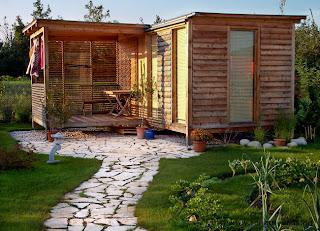 Gartenhäuser Holz Lärche modern