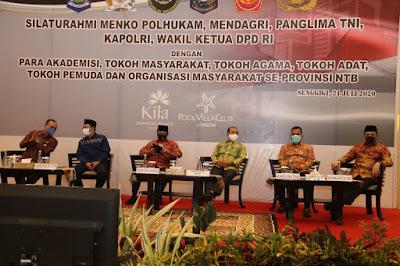 Bertemu Tokoh NTB, Wakapolri Pertegas Sinergitas TNI-Polri dalam Pengamanan Pilkada Serentak 2020