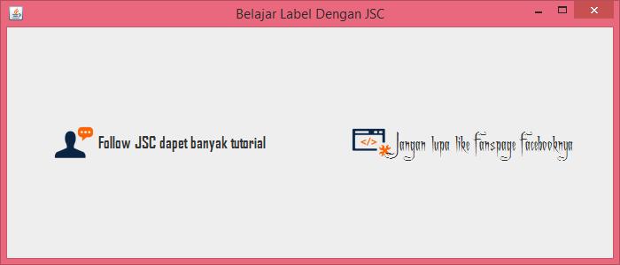 Gambar 5 - jLabel Pada Komponen Swing Di Java