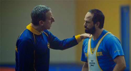 Steve Carrell and Mark Ruffalo in Foxcatcher
