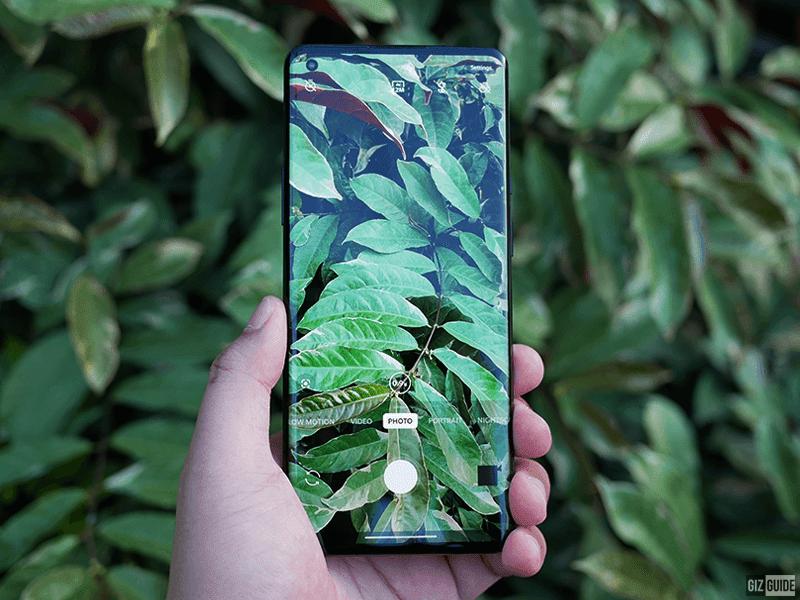 The clean OnePlus camera UI