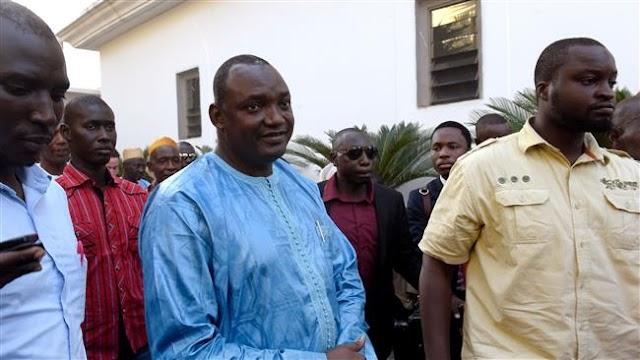 Adama Barrow lands in Senegal amid political crisis in Gambia