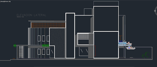 Family house 4 floors Dwg