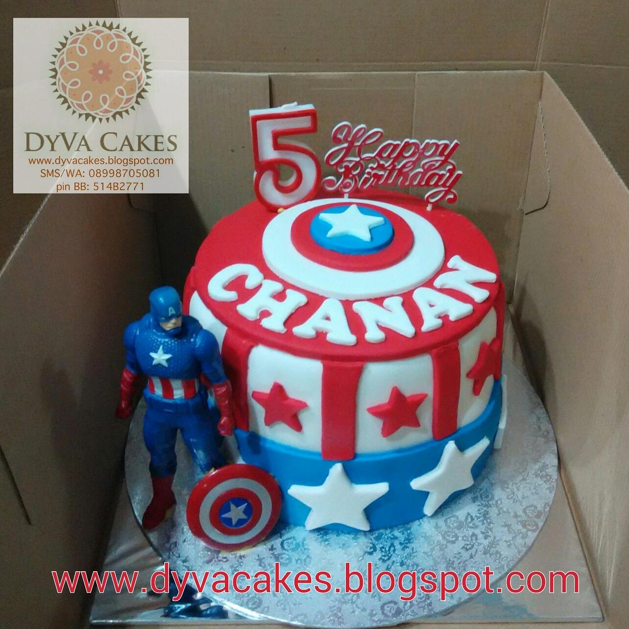 Dyva Cakes Captain America Birthday Cake