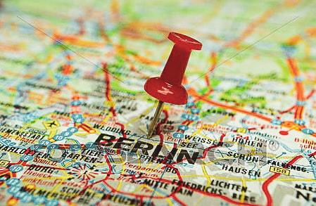 Mappa di Berlino con spilla