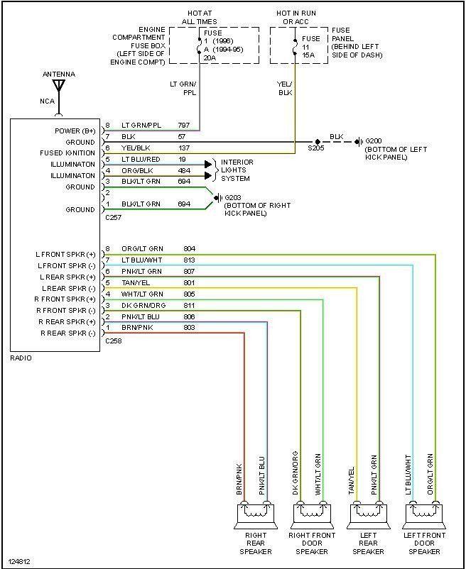 1997 Ford F150 Wiring Diagram For Radio