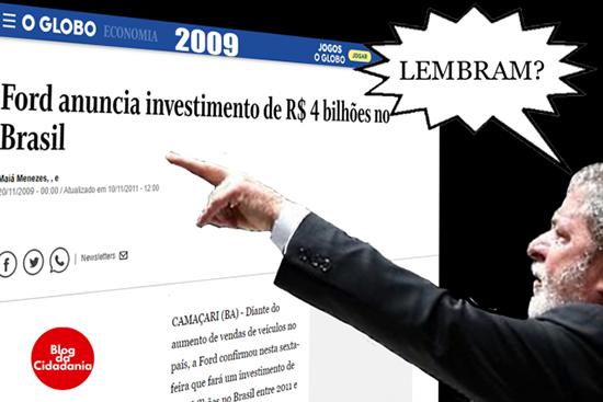 Um dos memes com o ex-presidente Lula e a Ford