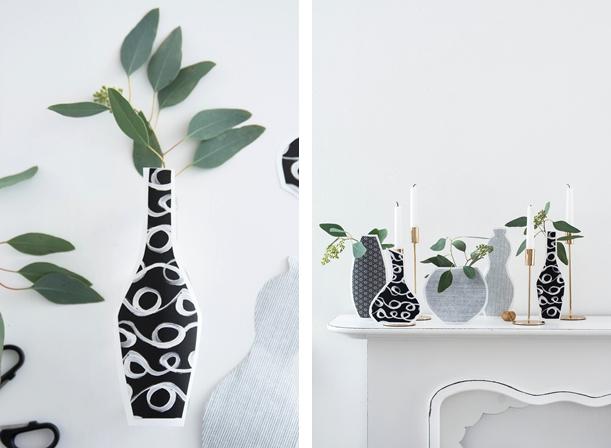 DIY Silhouetten Vasen
