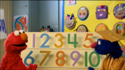 Elmo and Professor Grover counting. Sesame Street Preschool is Cool Counting With Elmo