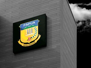 desain papan nama logo provinsi papua - kanalmu