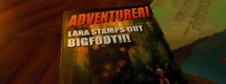 Adventurer! Lara Stamps Out Bigfoot!! magazine