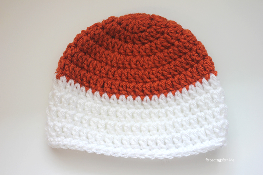 Crochet Hat Pattern For 8 Month Old : Crochet Fox Hat - Repeat Crafter Me