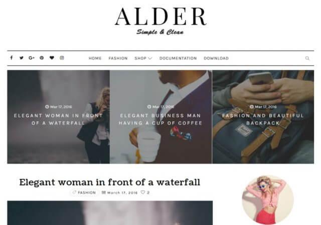 Alder Elegant Blogger Template Full Version Free Download