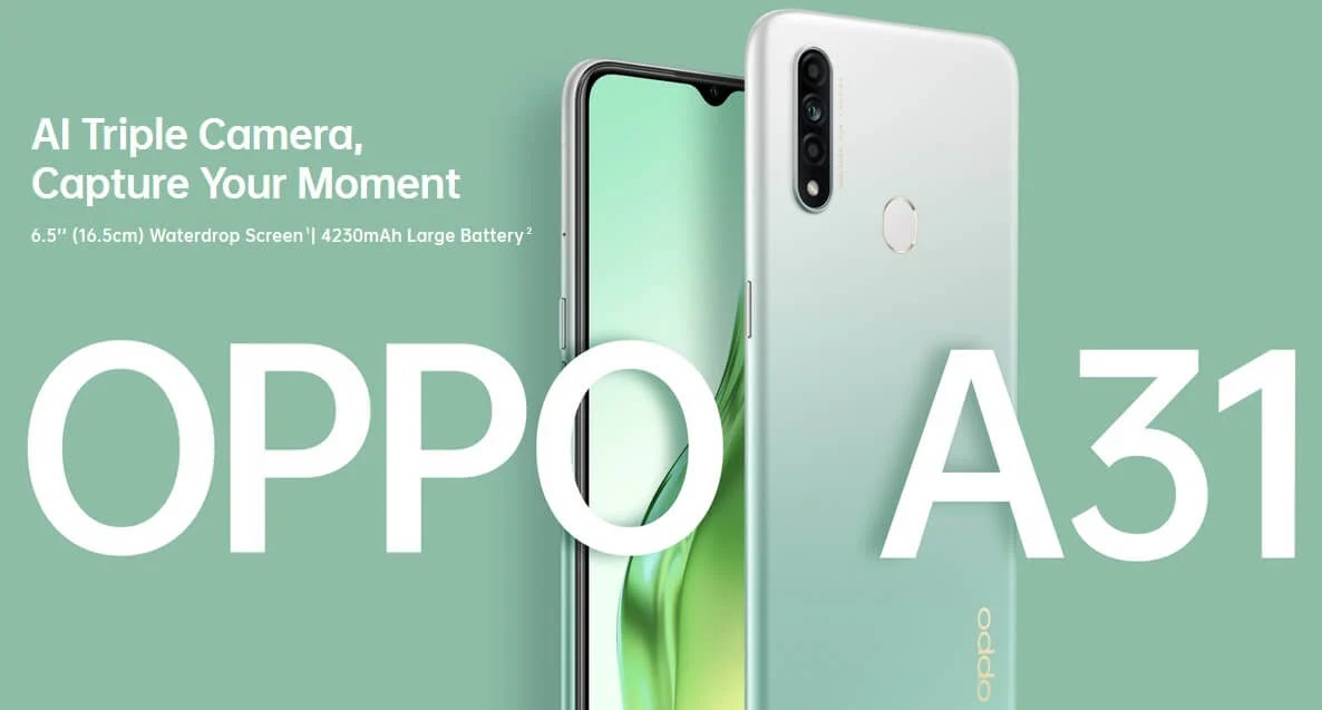 OPPO A31 with Triple Rear Camera, 4GB RAM, 128GB ROM is Priced at Php8,990