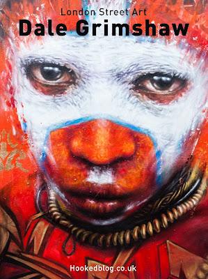 London based street artist Dale Grimshaw paints a mural on Hanbury Street, London. #streetart #graffiti #Hookedblog