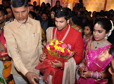 Chandra babu naidu in Revanth Reddy's Daughter wedding