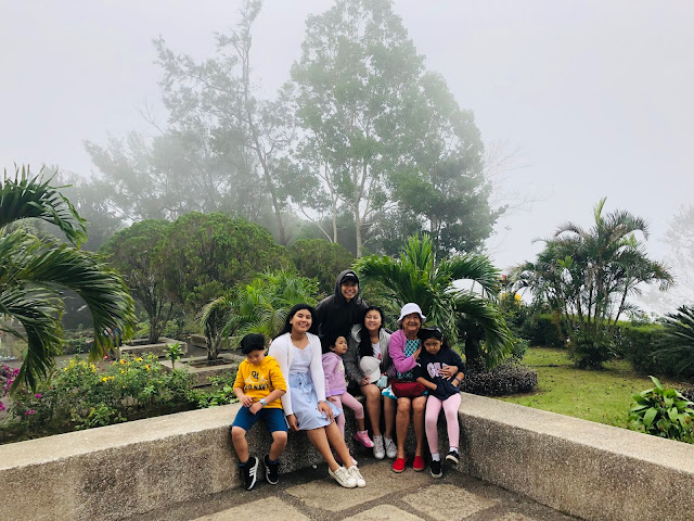 Mom and kids at Mount Samat