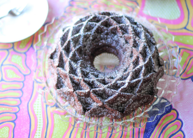 Food Lust People Love: This fudgy flourless chocolate Bundt is so tender and moist, it's almost like a very rich, firm baked pudding. Fudgy in flavor, light in texture. Made with only five ingredients, it couldn't be easier!