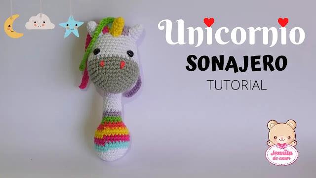 Tutorial de Sonajero Amigurumi a Crochet