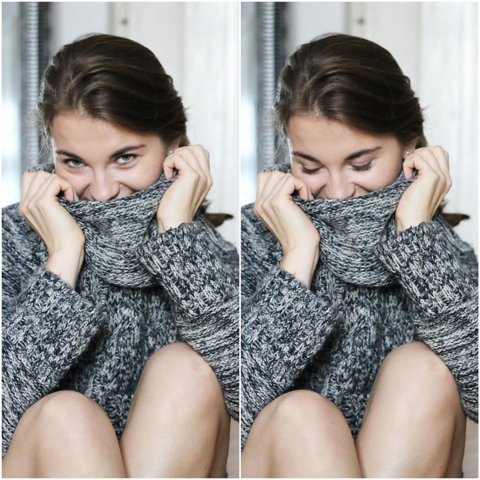 sesja w swetrze, jesienna sesja