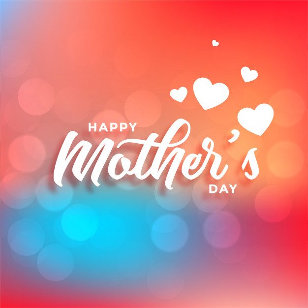 Lovely happy mothers day beautiful colors background Free Vector