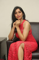 Sakshi Kakkar in Red Legsplit Sleeveless Gown at Dare movie Press meet ~  Exclusive 047.JPG