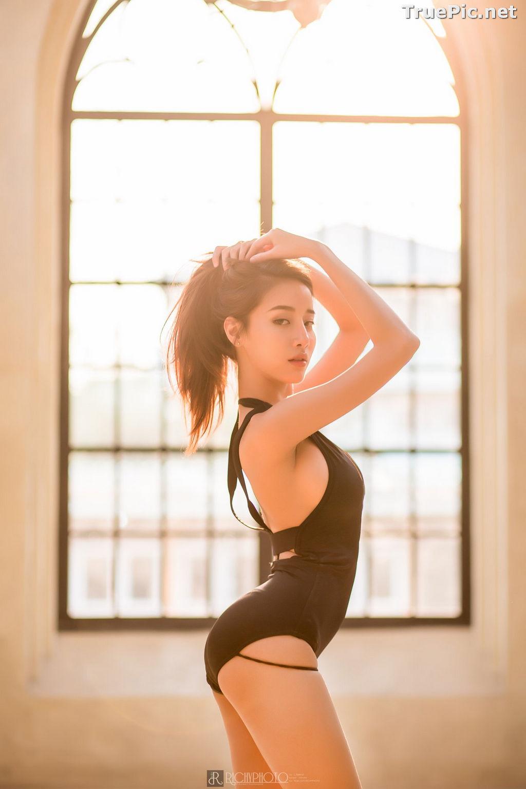 Image Thailand Model - Pichana Yoosuk - Black One Piece Swimsuit - TruePic.net - Picture-10