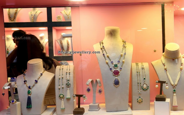 Precious Beads Fancy Necklaces with Studs