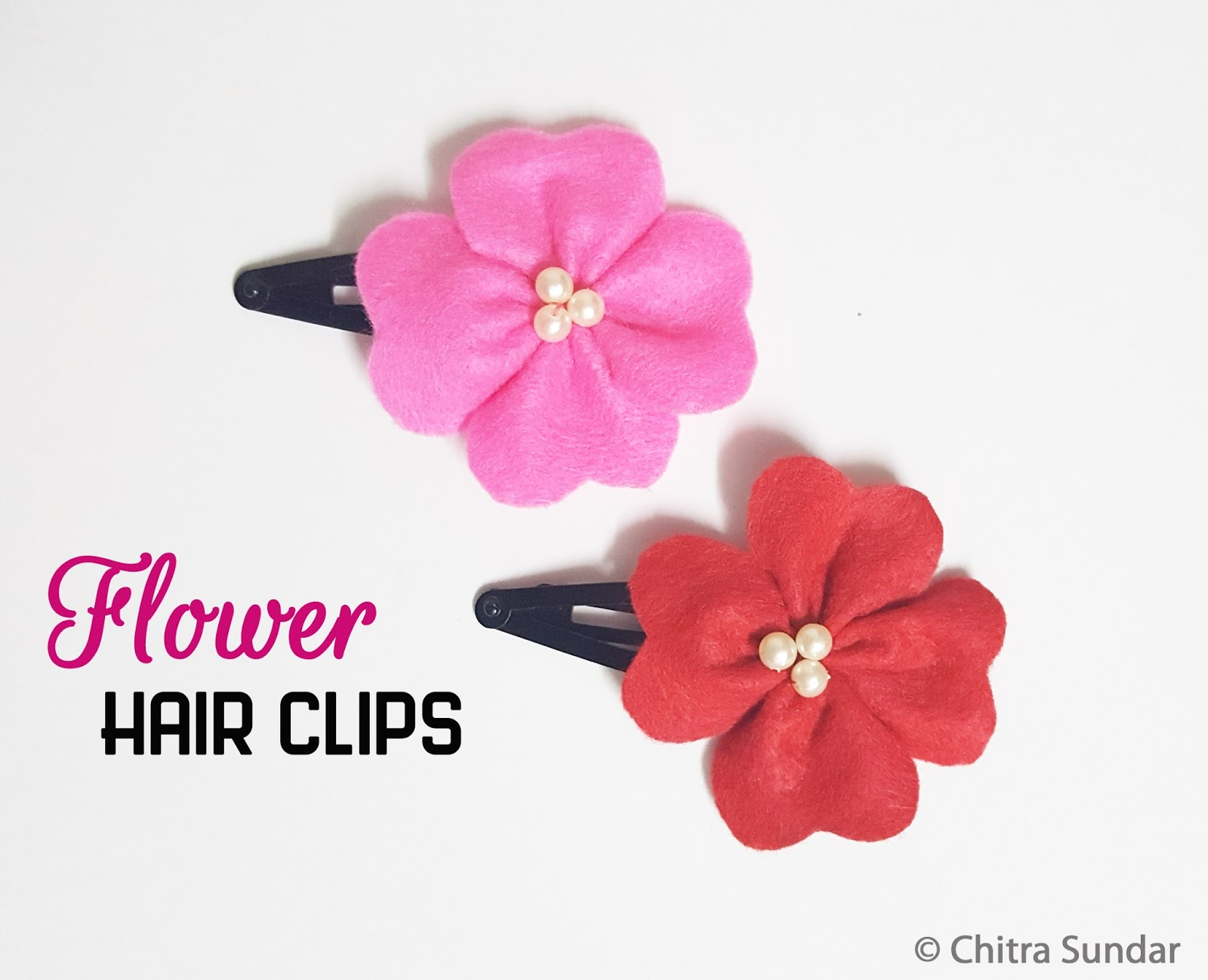 Craft with chitra diy flower hair clips diy flower hair clips mightylinksfo
