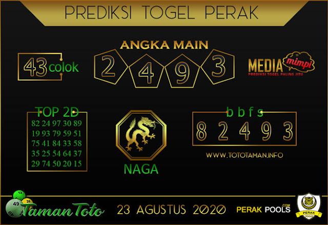 Prediksi Togel PERAK TAMAN TOTO 23 AGUSTUS 2020
