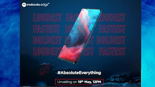 Motorola Edge+ will be launched in India on May 19 with a Tremendous 108-megapixel Rear Camera