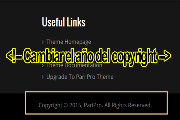 Código para poner copyright en HTML