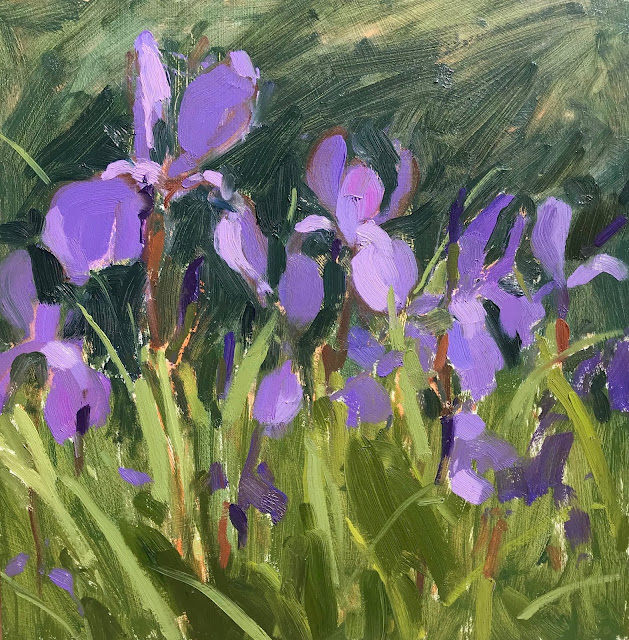 #336 'Purple Iris' 10×10″ & Tonal Value Tip