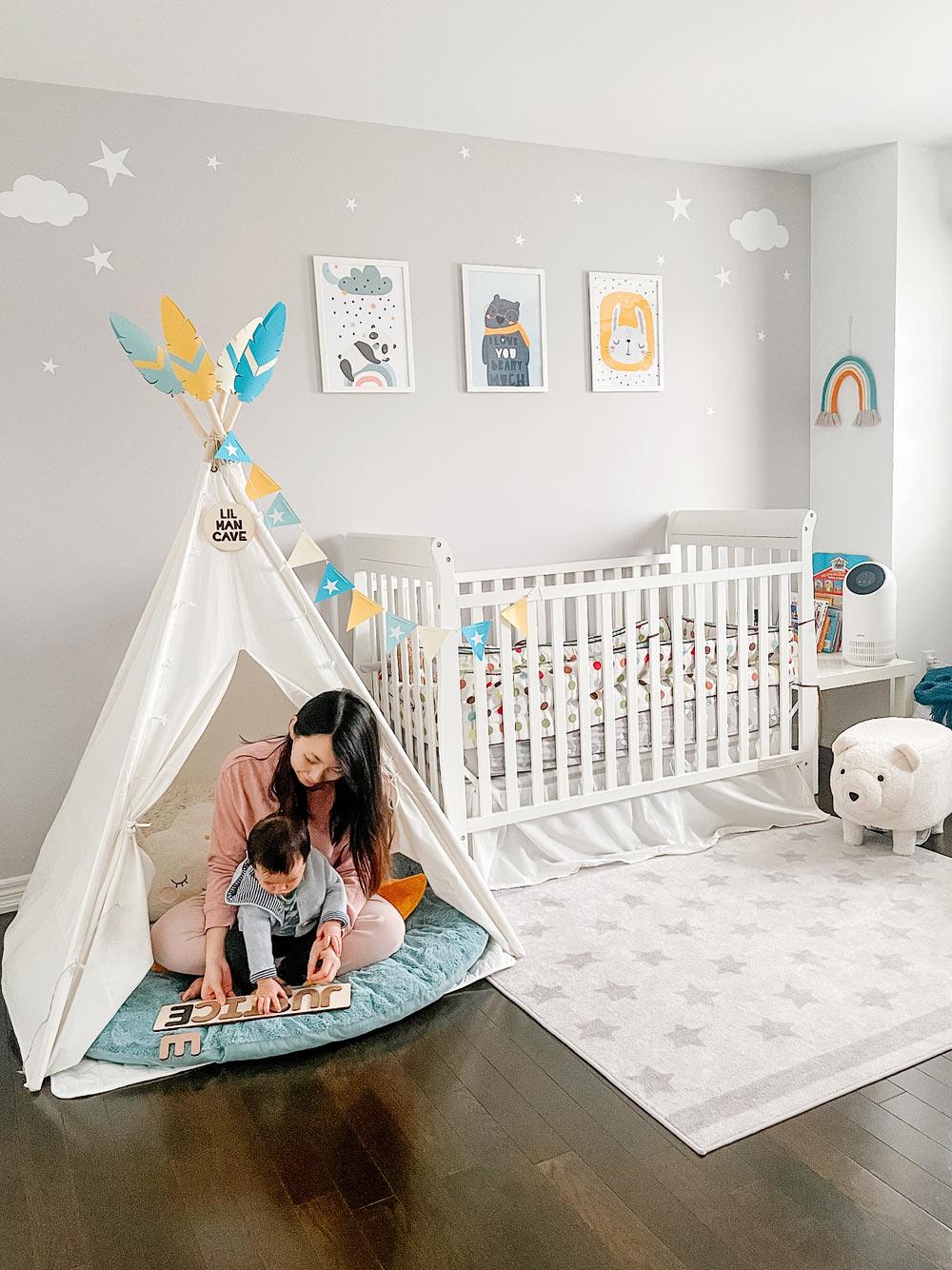 Nursery Room Update! (DIY Teepee Decorations)