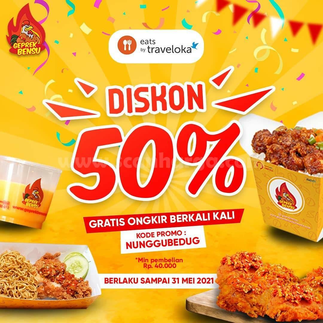 GEPREK BENSU Promo DISKON 50% khusus pemesanan via Traveloka Eats