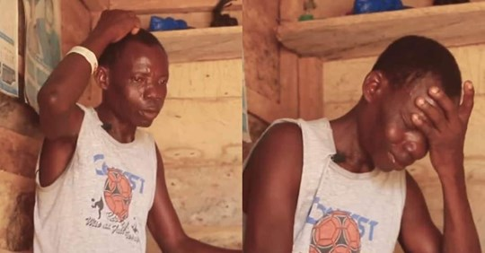 Poor father of 5 who couldn't stand lockdown hunger cries after receiving gift