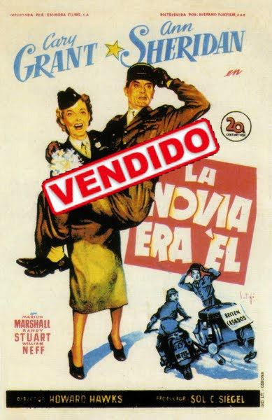 Programa de Cine - La Novia era El - Cary Grant - Ann Sheridan