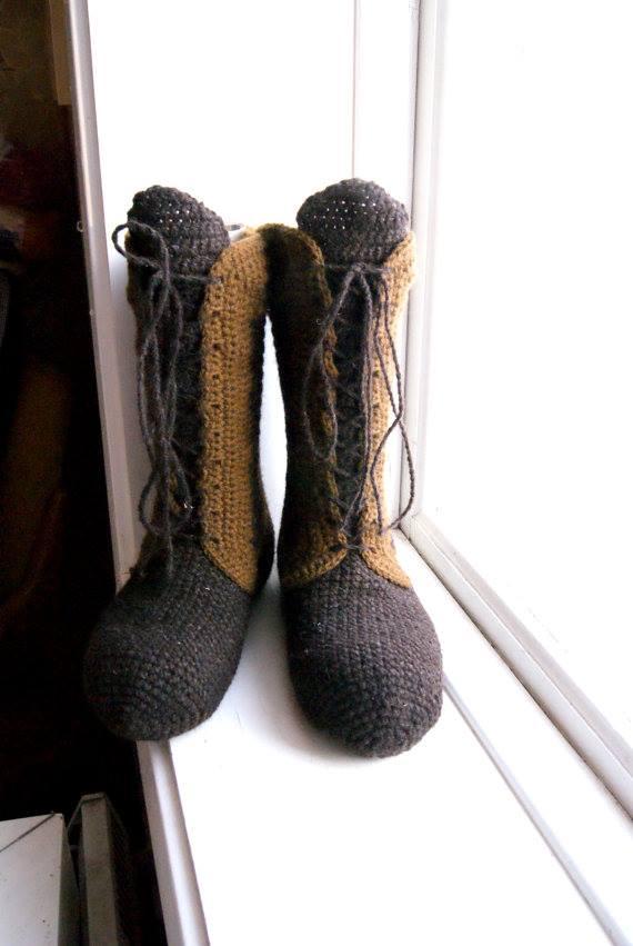 buty szydelkiem