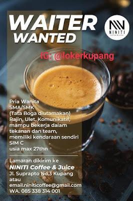 Lowongan Kerja Niniti Coffee & Juicy Sebagai Waiter