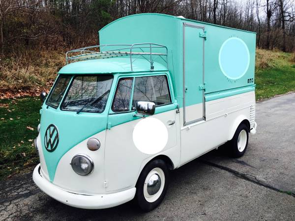1960 Vw Split Screen Custom Food Truck Vw Bus Wagon