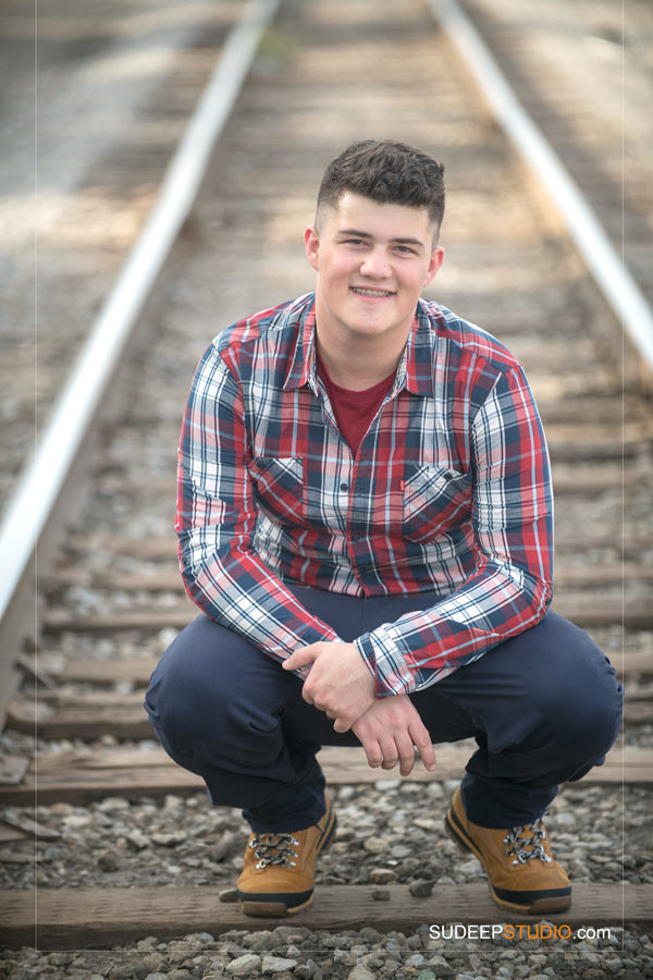 Chelsea High School Country Western Style Train Tracks Ideas Senior Pictures for Guys SudeepStudio.com Ann Arbor Senior Pictures Photographer