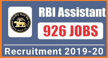 Reserve Bank of  India RBI inviting Online Applications from eligible aspirants for the posts of Assistants in various branches through out the India. Good news to degree holders from RBI here it has come out with 926 Assistant vacancies to fill up and Hyderabad Branch itself has 25 vacancies. Check here for Reserve Bank of India 926 Assistant Posts Eligibility conditions Vacancies details Educational Qualifications Important dates for How to Apply and Submit Online Applications Exam dates Selection Procedure at official website www.rbi.org.in rbi-reserve-bank-of-india-assistants-recruitment-2019-online-application-scheme-of-examination-selection-procedure