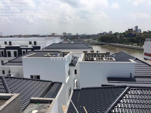 Ngói Inari màu đen F11 tại dự án