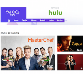 View Yahoo View and Free Hulu