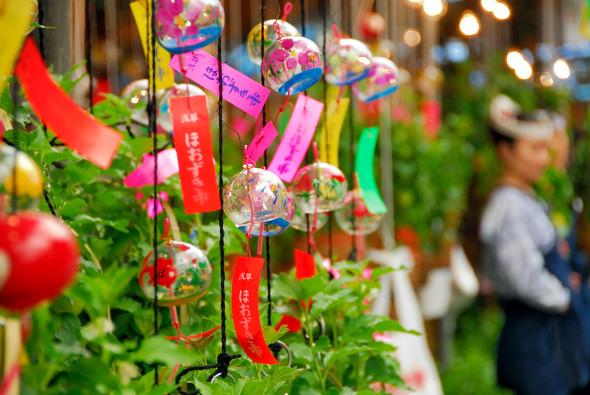 Hozuki Ichi (ground cherry fair), at Atago-jinja Shrine, Minato-ku, Tokyo