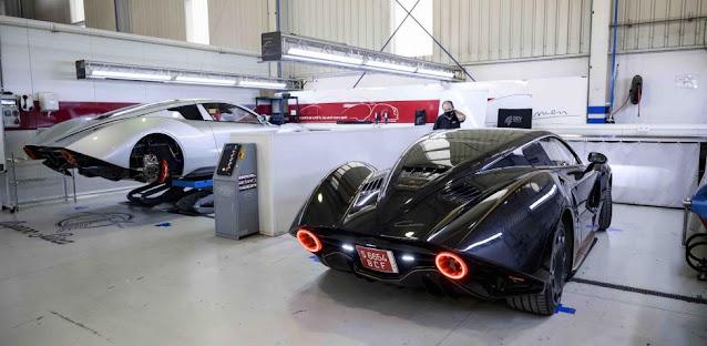 Hispano Suiza Carmen en las instalaciones de QEV Tech