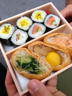 il bento con il sushi
